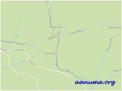 Vista mapa de la zona de La Pedriza