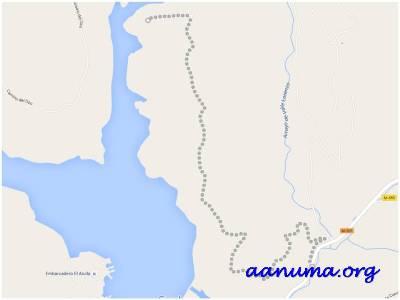 Vista mapa de la zona del pantano de San Juan
