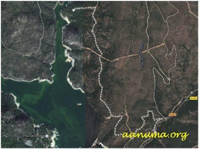 Vista satélilte de la zona del pantano de San Juan